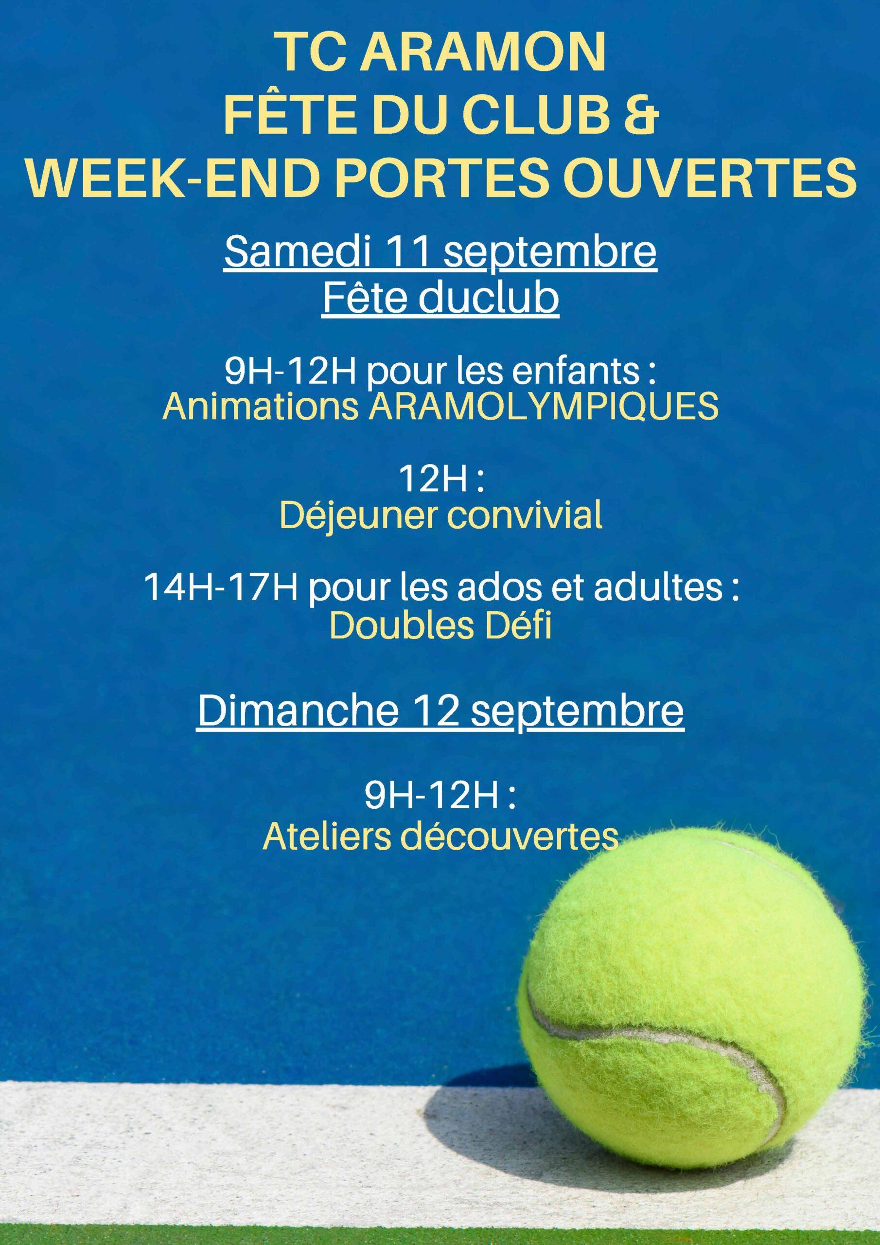 Fête du Club et Journées Portes Ouvertes au Tennis Club d'Aramon @ Club de tennis